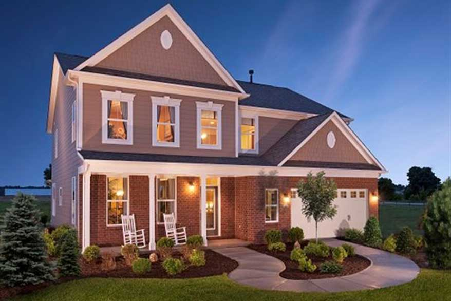 Jamestown model exterior by Lennar
