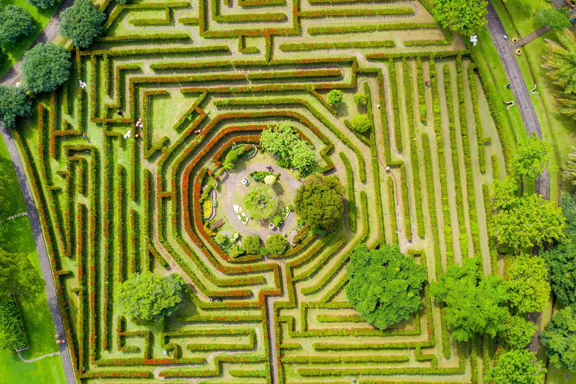 Outdoor maze